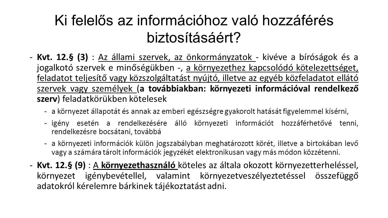 Ki felelős az információhoz való hozzáférés biztosításáért