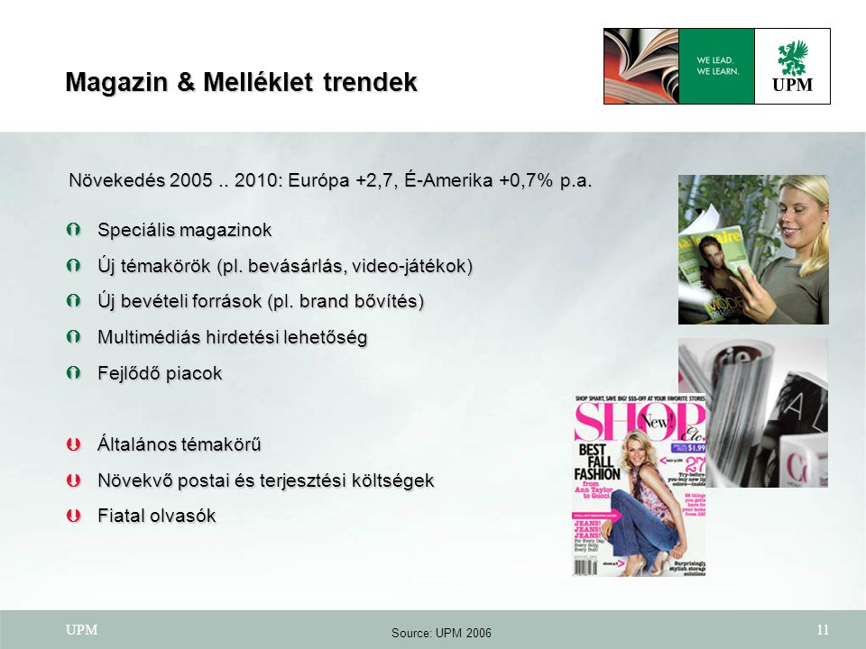 Magazin & Melléklet trendek