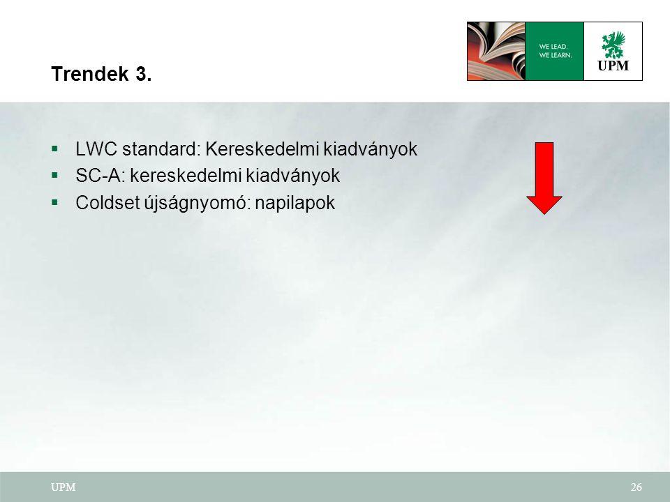Trendek 3. LWC standard: Kereskedelmi kiadványok