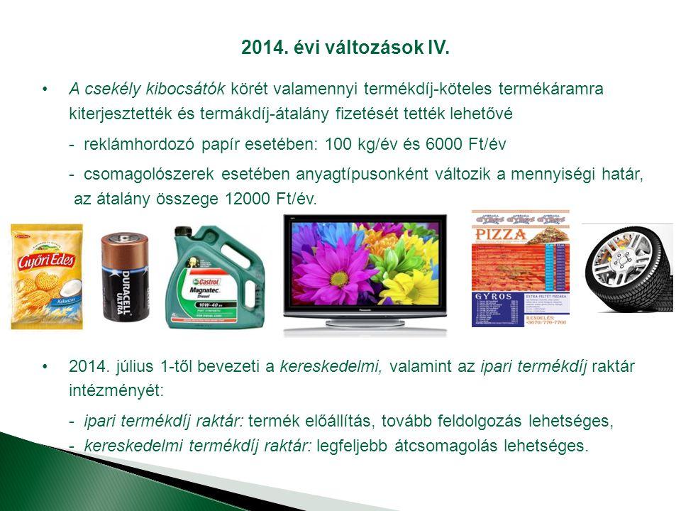 2014. évi változások IV.