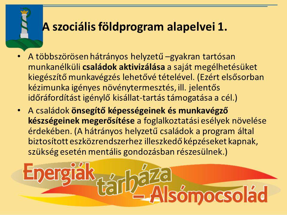 A szociális földprogram alapelvei 1.