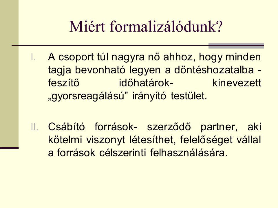 Miért formalizálódunk