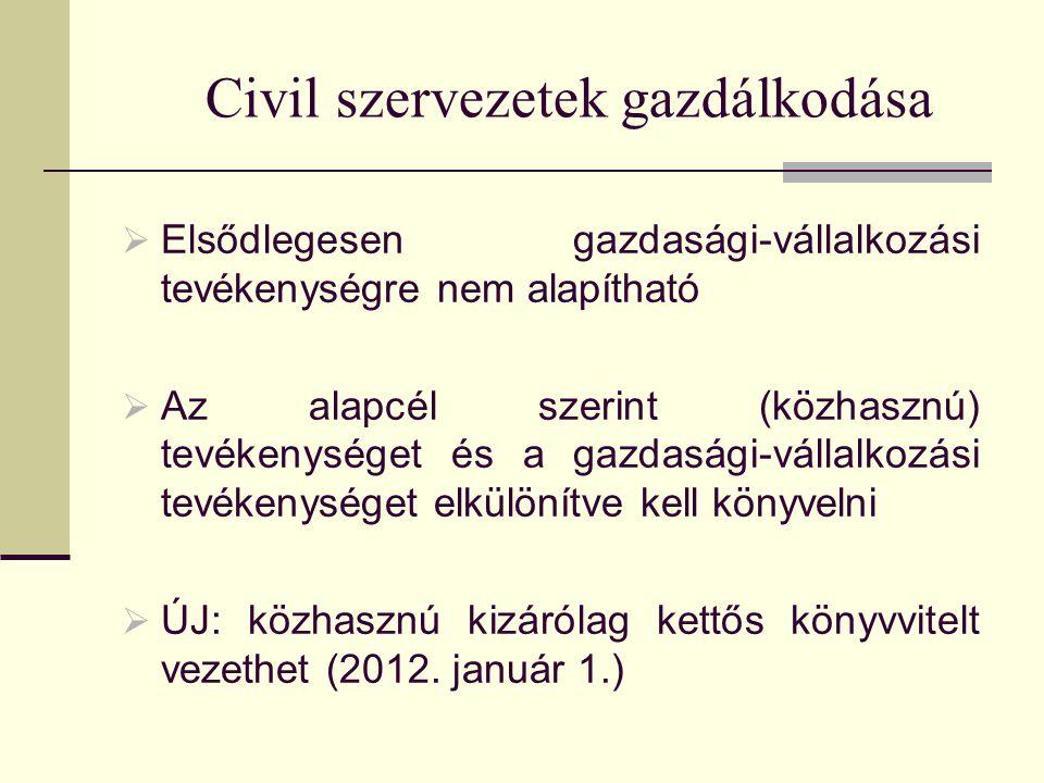 Civil szervezetek gazdálkodása
