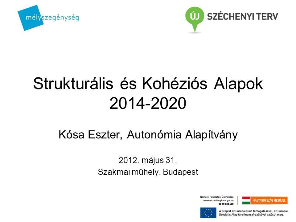 Strukturális és Kohéziós Alapok 2014-2020