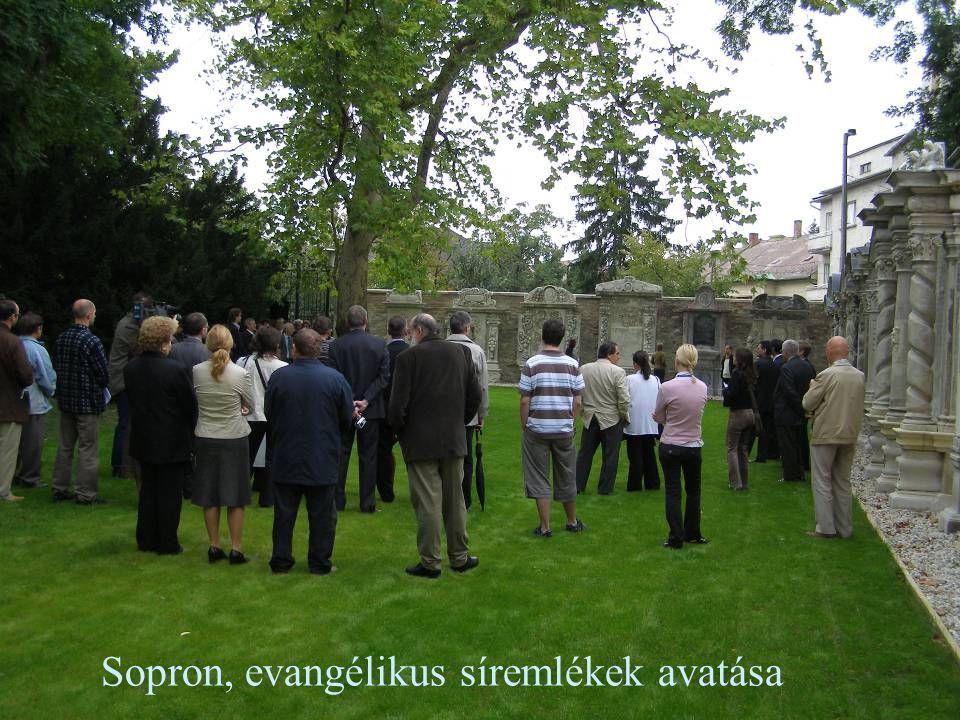 Sopron, evangélikus síremlékek avatása