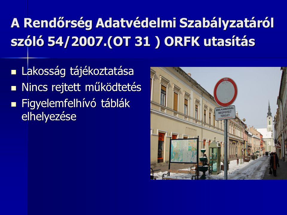 A Rendőrség Adatvédelmi Szabályzatáról szóló 54/2007