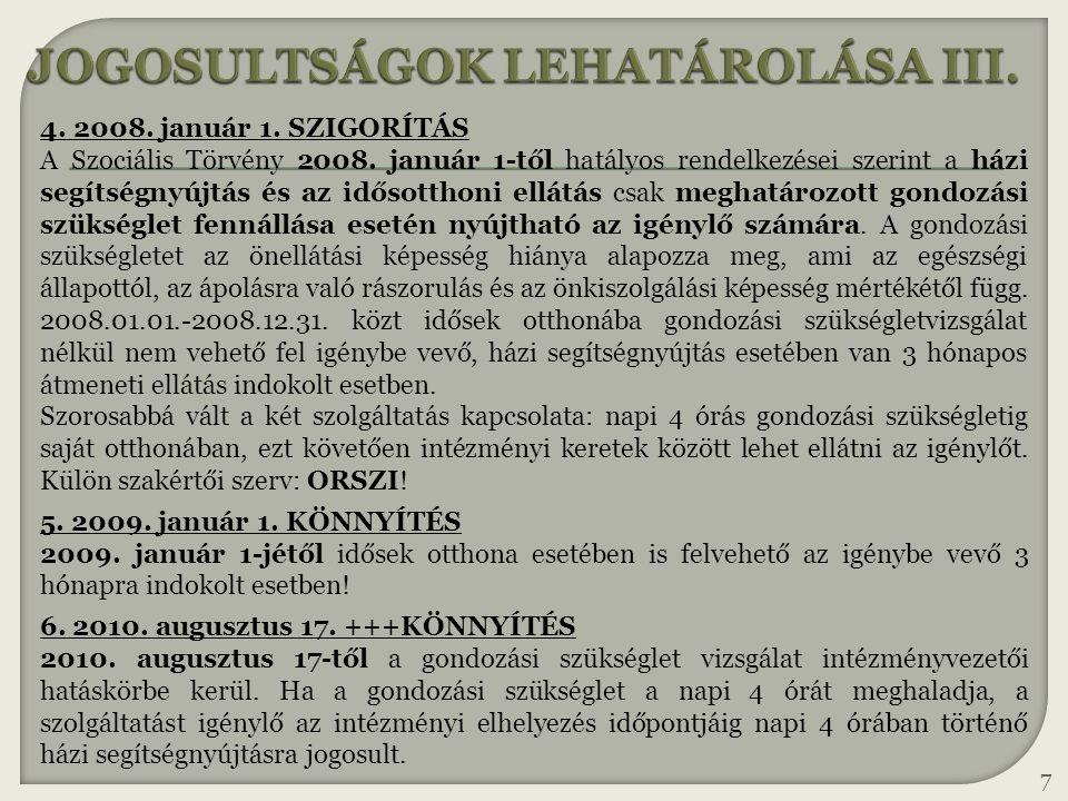 JOGOSULTSÁGOK LEHATÁROLÁSA III.