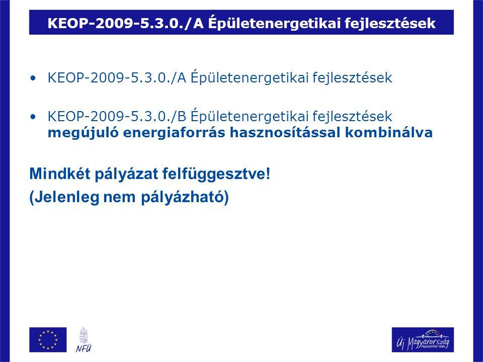 KEOP-2009-5.3.0./A Épületenergetikai fejlesztések