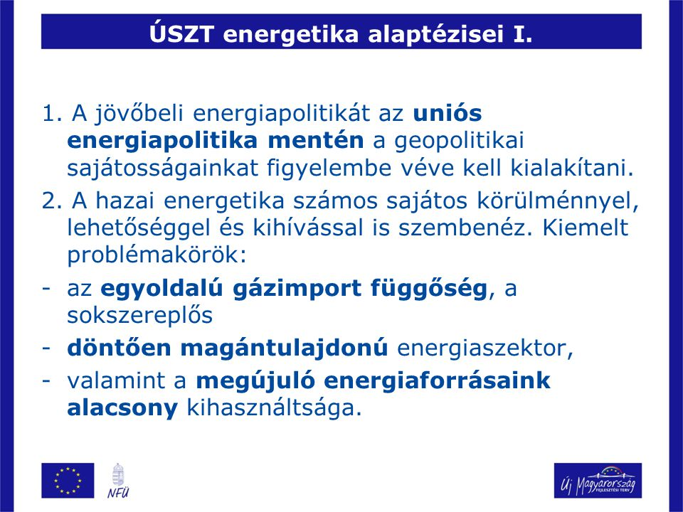 ÚSZT energetika alaptézisei I.
