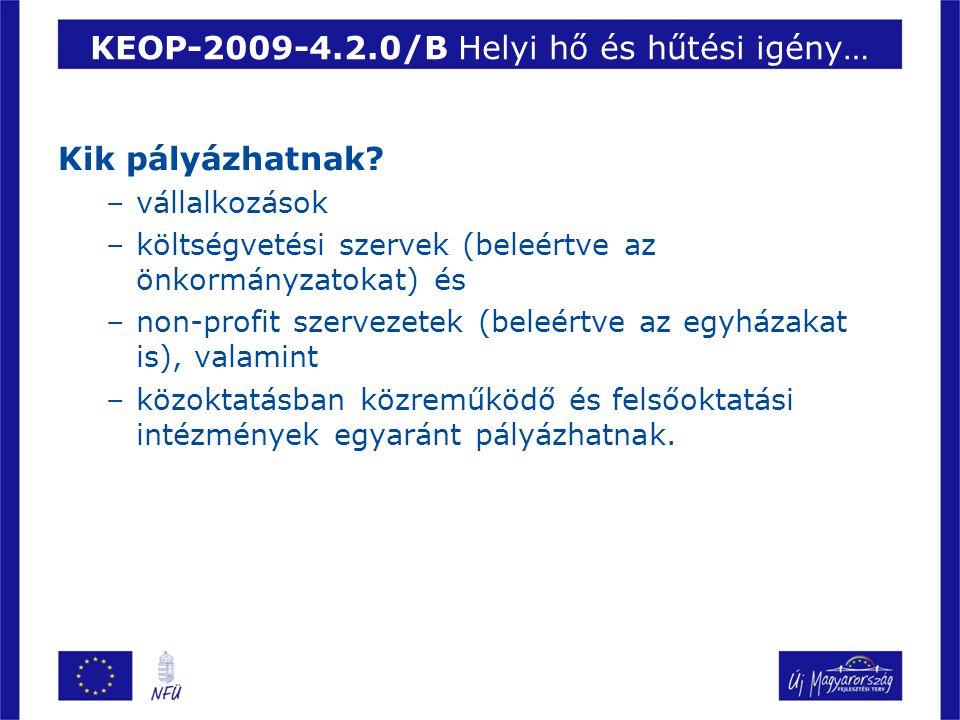KEOP-2009-4.2.0/B Helyi hő és hűtési igény…