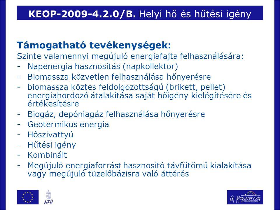 KEOP-2009-4.2.0/B. Helyi hő és hűtési igény