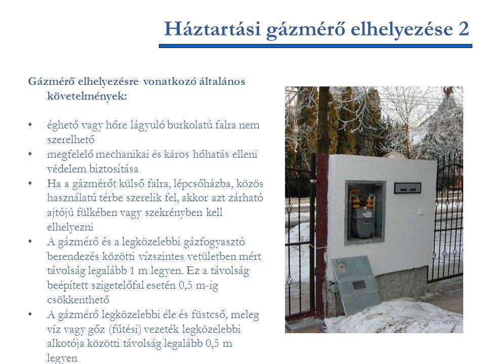 Háztartási gázmérő elhelyezése 2