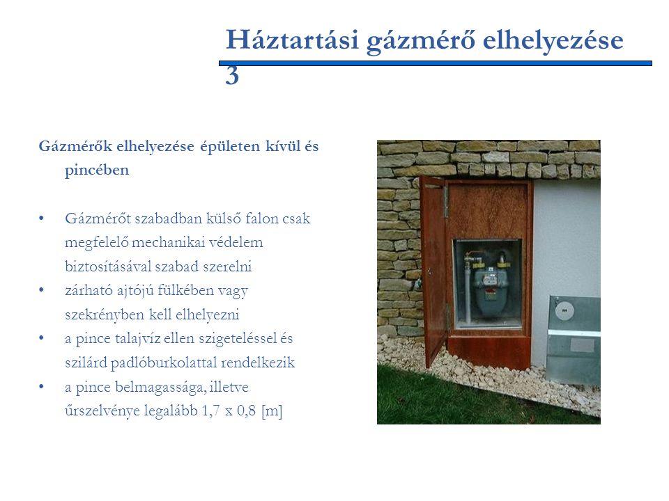 Háztartási gázmérő elhelyezése 3