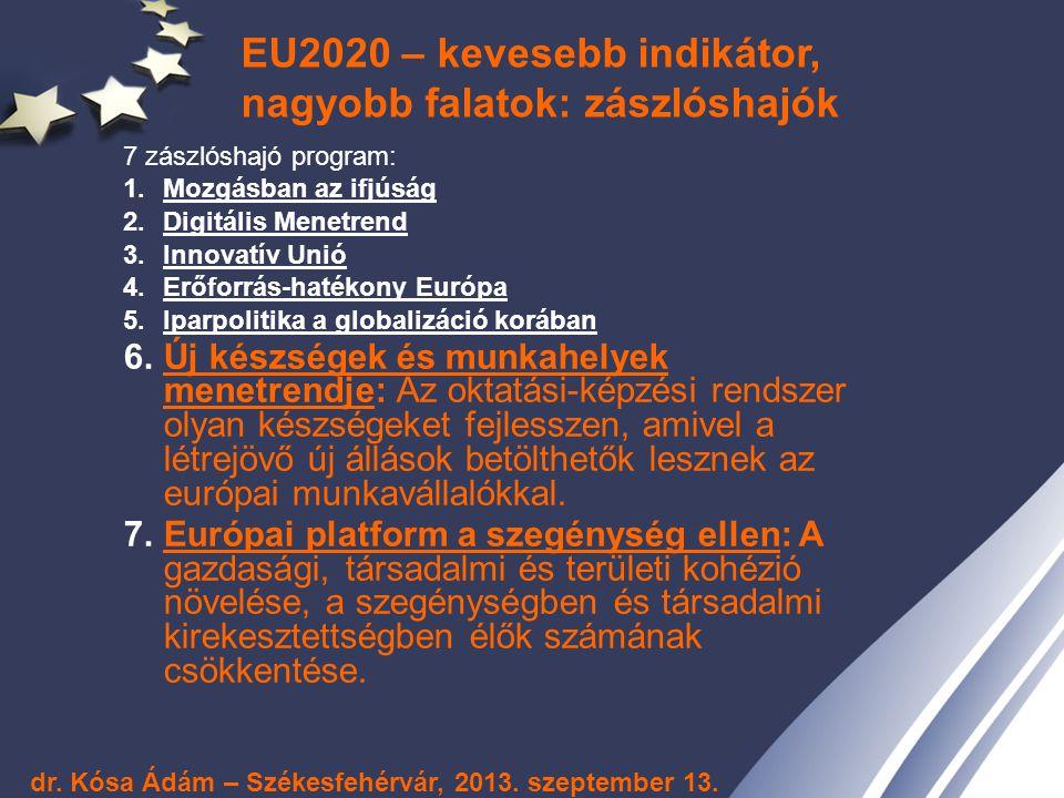 EU2020 – kevesebb indikátor, nagyobb falatok: zászlóshajók