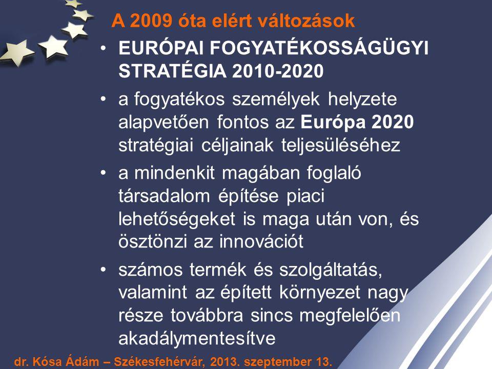 EURÓPAI FOGYATÉKOSSÁGÜGYI STRATÉGIA 2010-2020