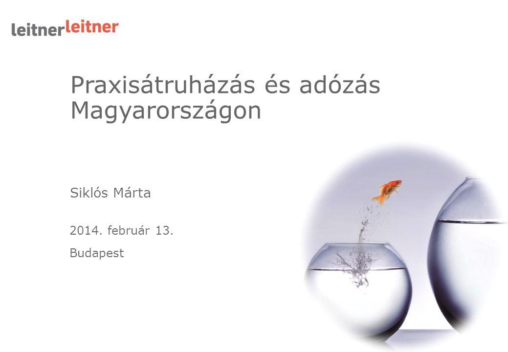 Praxisátruházás és adózás Magyarországon