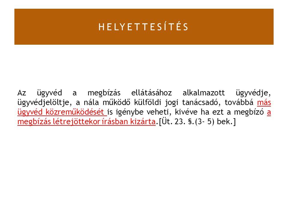 HELYETTESÍTÉS