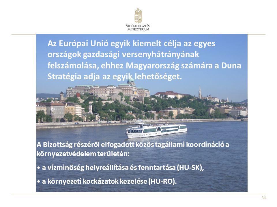 Az Európai Unió egyik kiemelt célja az egyes országok gazdasági versenyhátrányának felszámolása, ehhez Magyarország számára a Duna Stratégia adja az egyik lehetőséget.