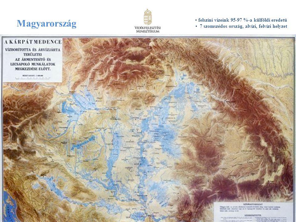 Magyarország felszíni vizeink 95-97 %-a külföldi eredetű