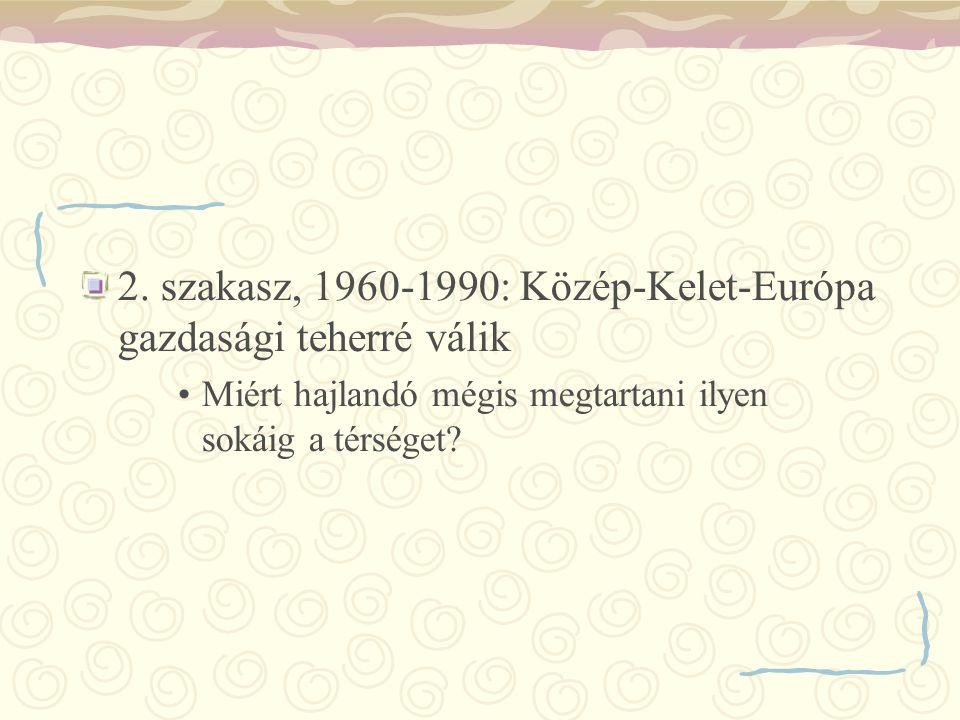 2. szakasz, 1960-1990: Közép-Kelet-Európa gazdasági teherré válik