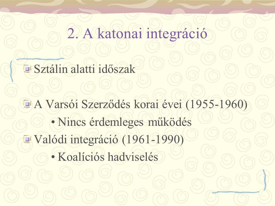 2. A katonai integráció Sztálin alatti időszak