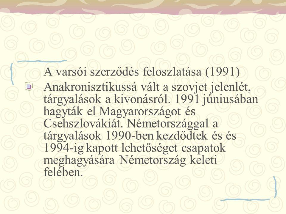 A varsói szerződés feloszlatása (1991)