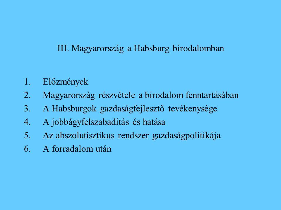 III. Magyarország a Habsburg birodalomban