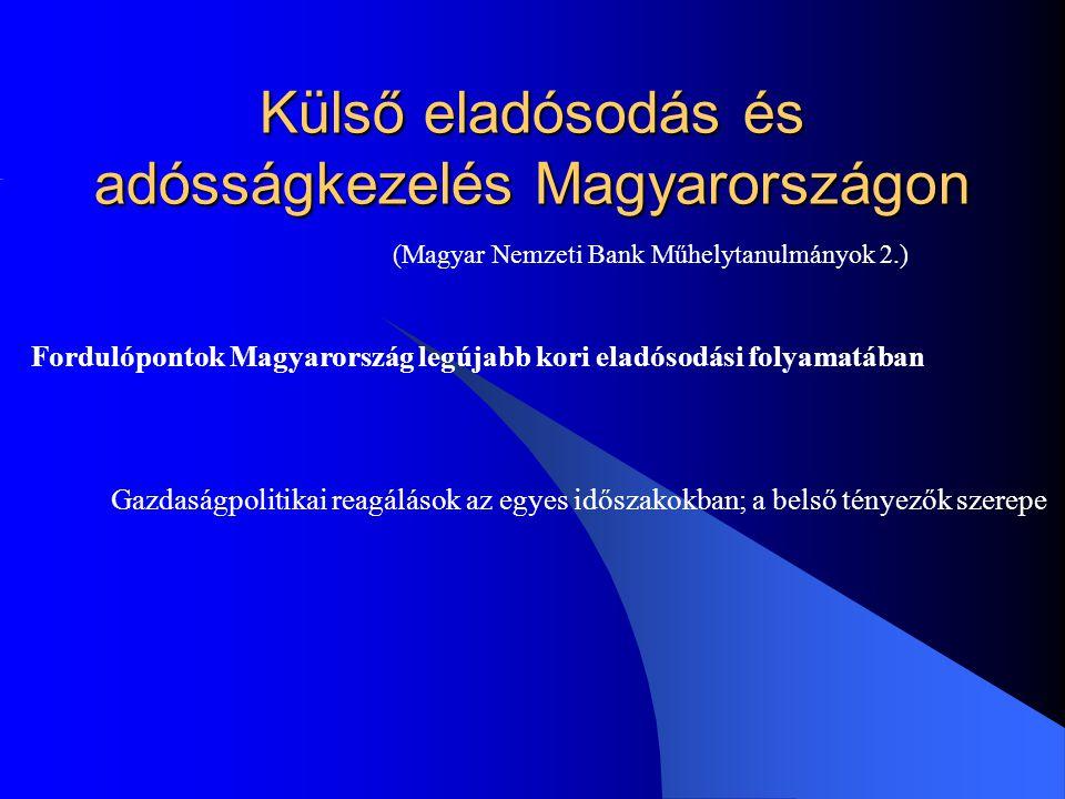 Külső eladósodás és adósságkezelés Magyarországon
