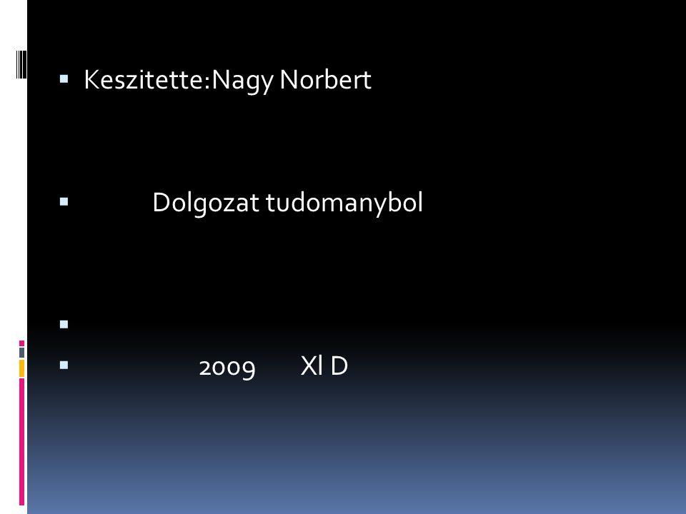 Keszitette:Nagy Norbert