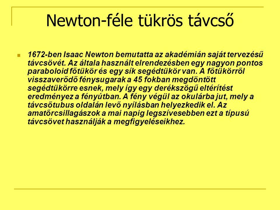 Newton-féle tükrös távcső