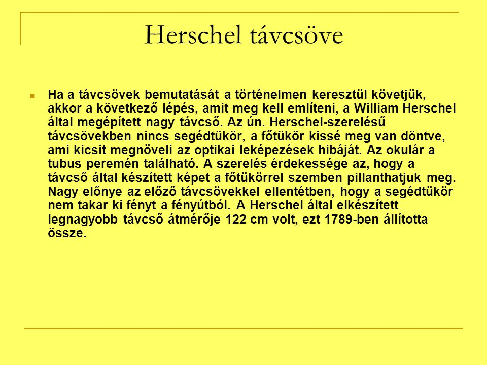 Herschel távcsöve