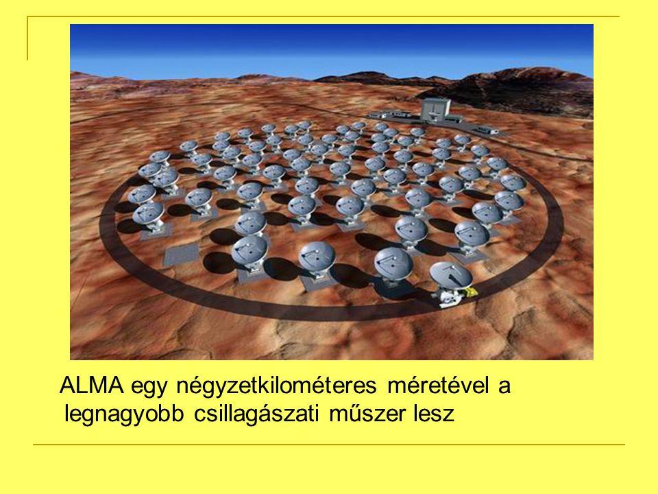 ALMA egy négyzetkilométeres méretével a legnagyobb csillagászati műszer lesz