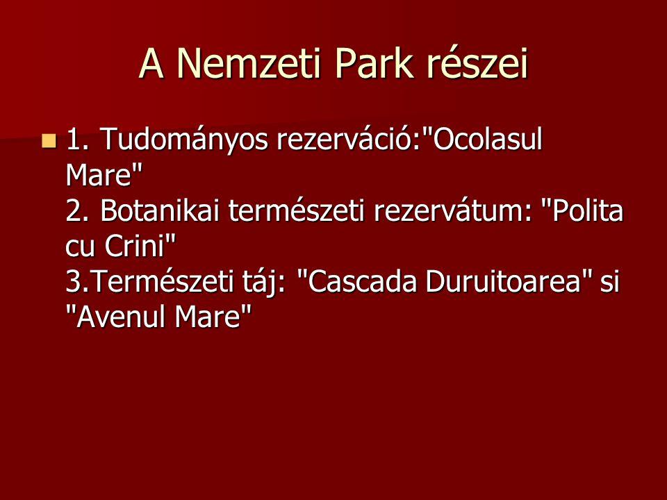 A Nemzeti Park részei