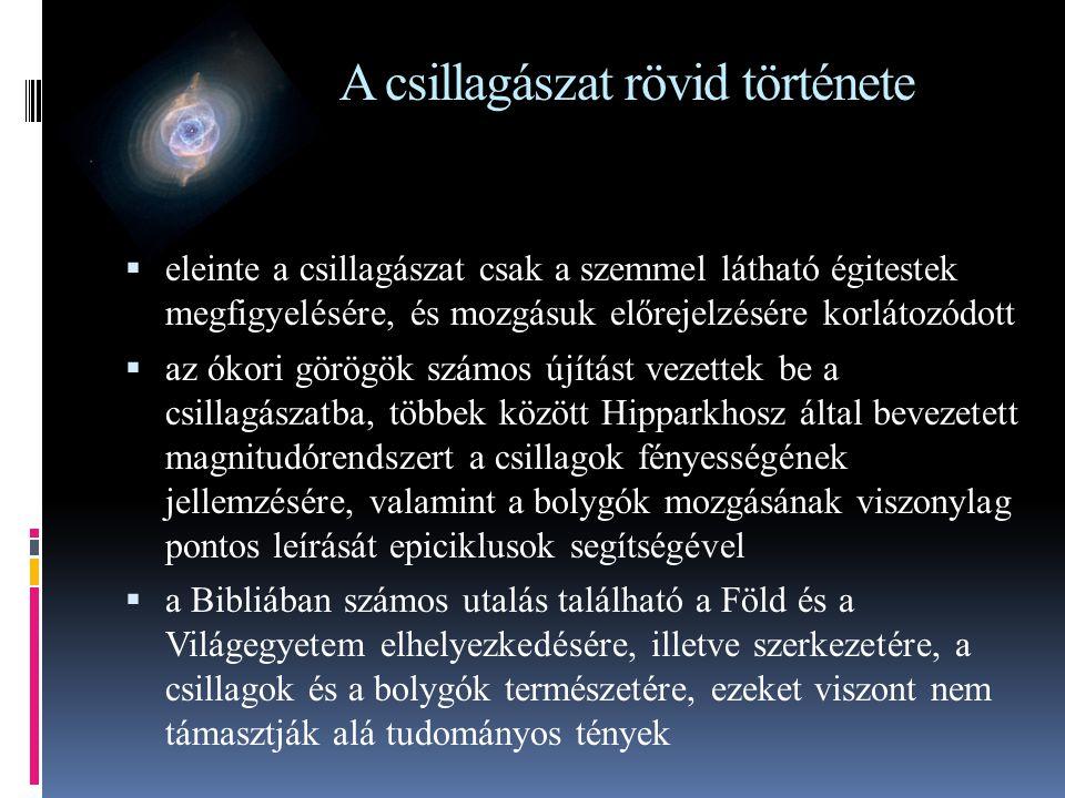 A csillagászat rövid története