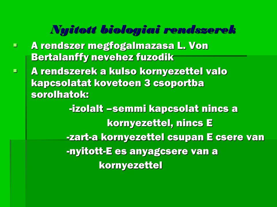 Nyitott biologiai rendszerek