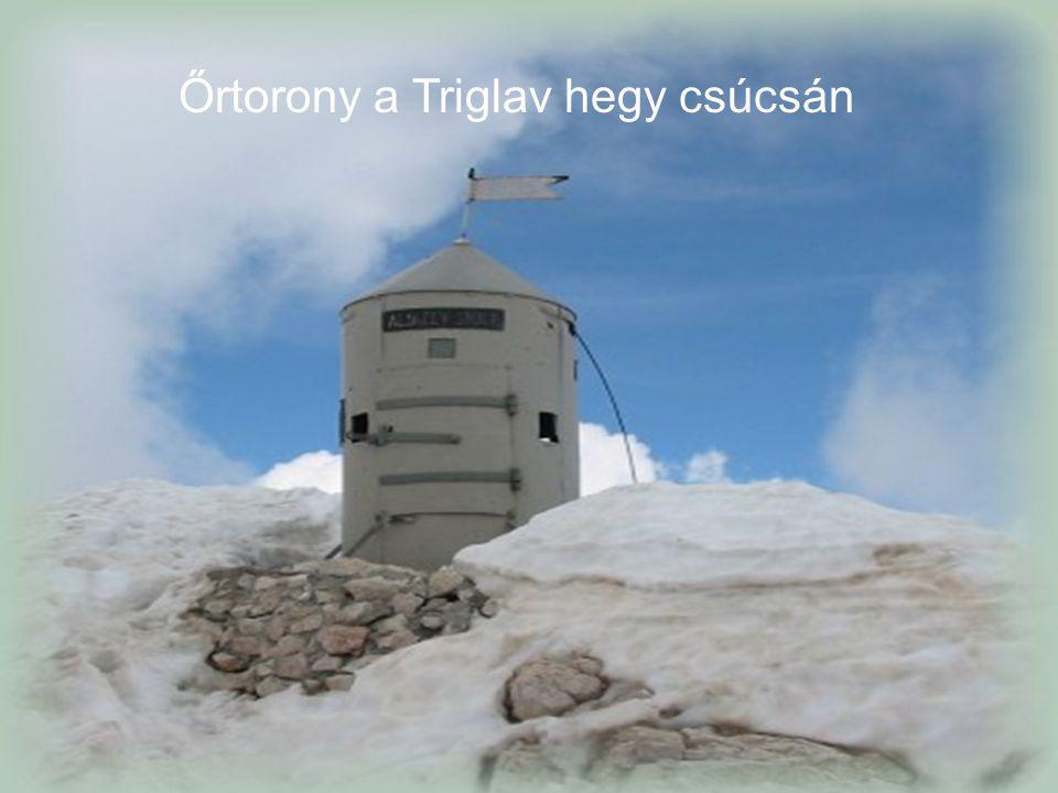 Őrtorony a Triglav hegy csúcsán