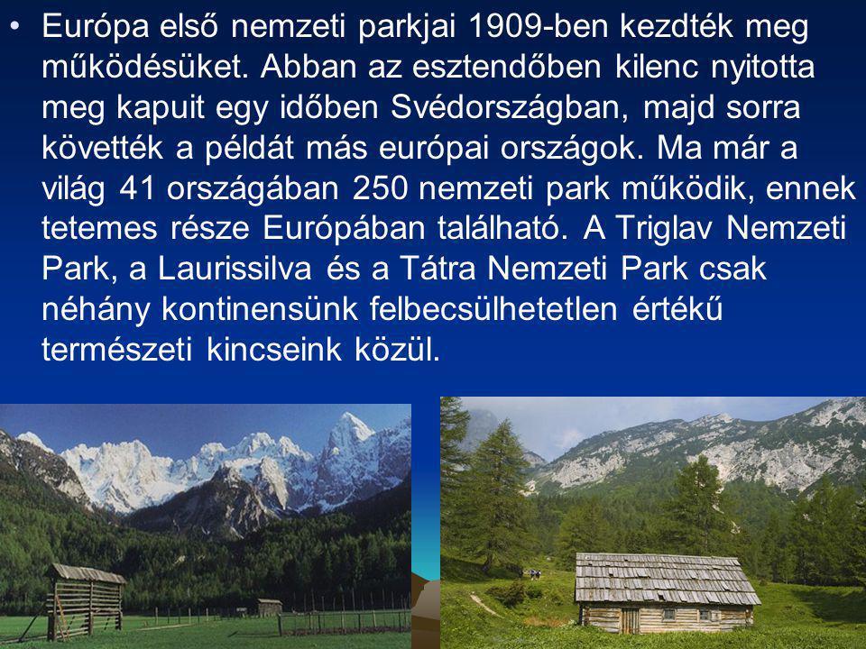 Európa első nemzeti parkjai 1909-ben kezdték meg működésüket