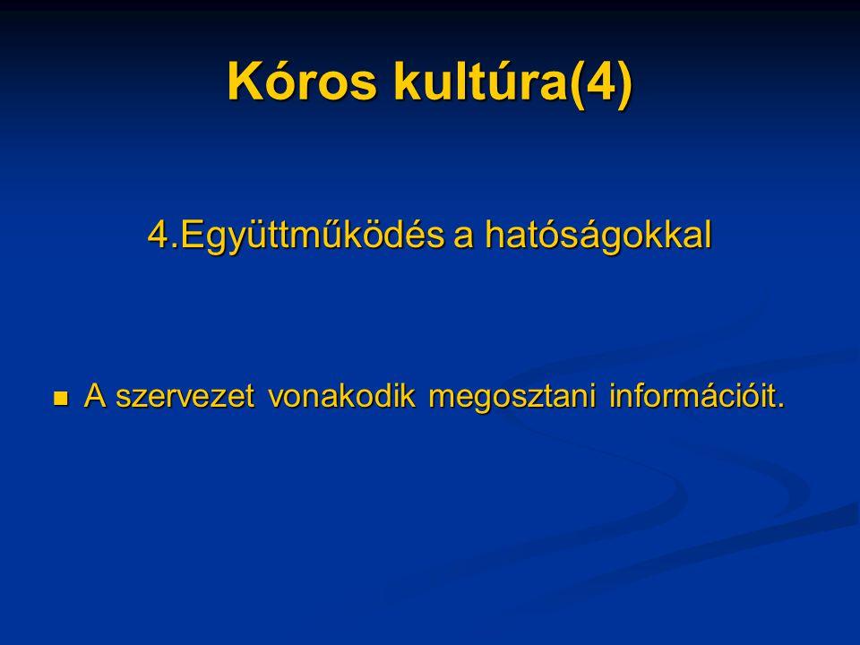 4.Együttműködés a hatóságokkal