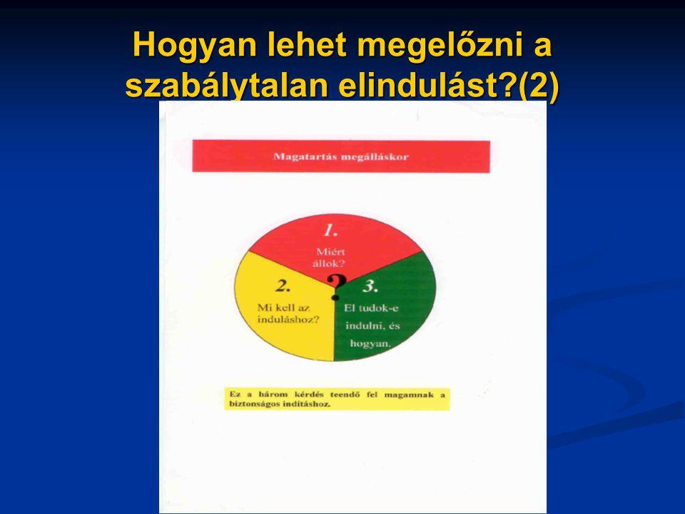 Hogyan lehet megelőzni a szabálytalan elindulást (2)