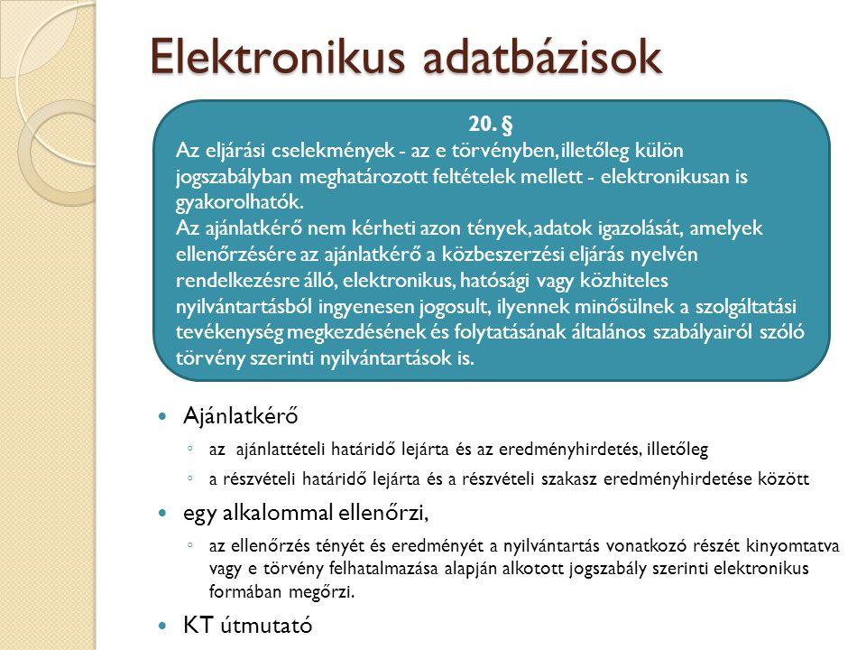 Elektronikus adatbázisok