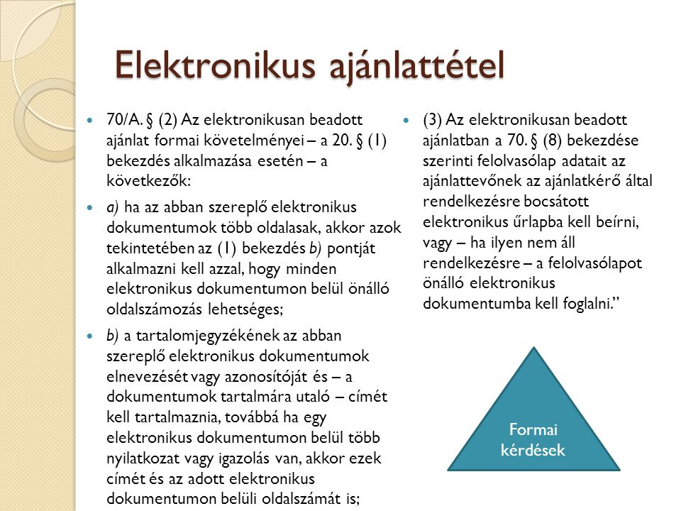 Elektronikus ajánlattétel