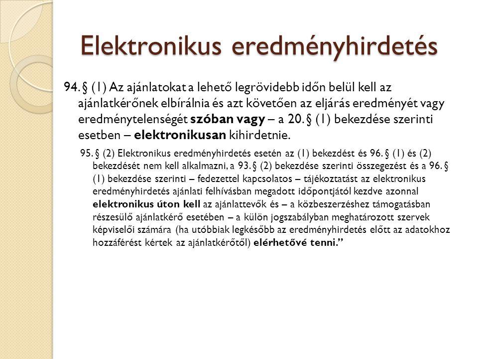 Elektronikus eredményhirdetés