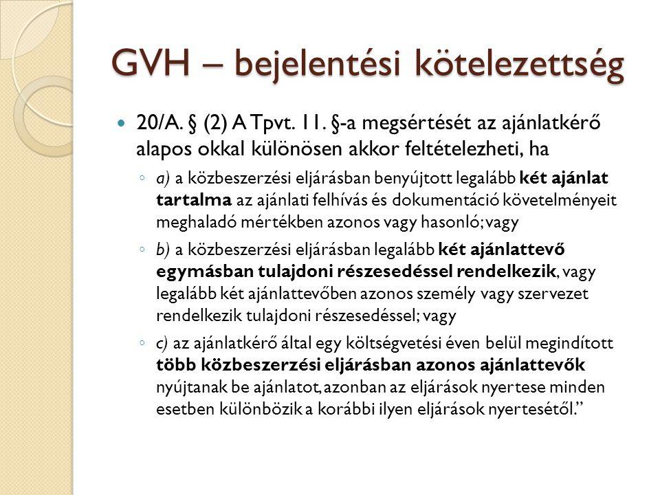 GVH – bejelentési kötelezettség
