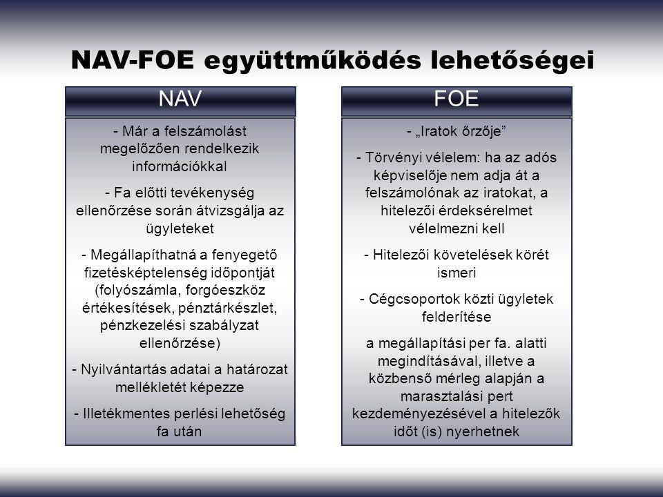 NAV-FOE együttműködés lehetőségei