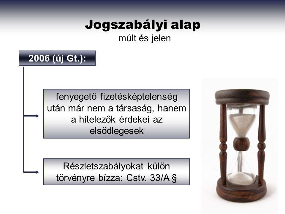 Részletszabályokat külön törvényre bízza: Cstv. 33/A §