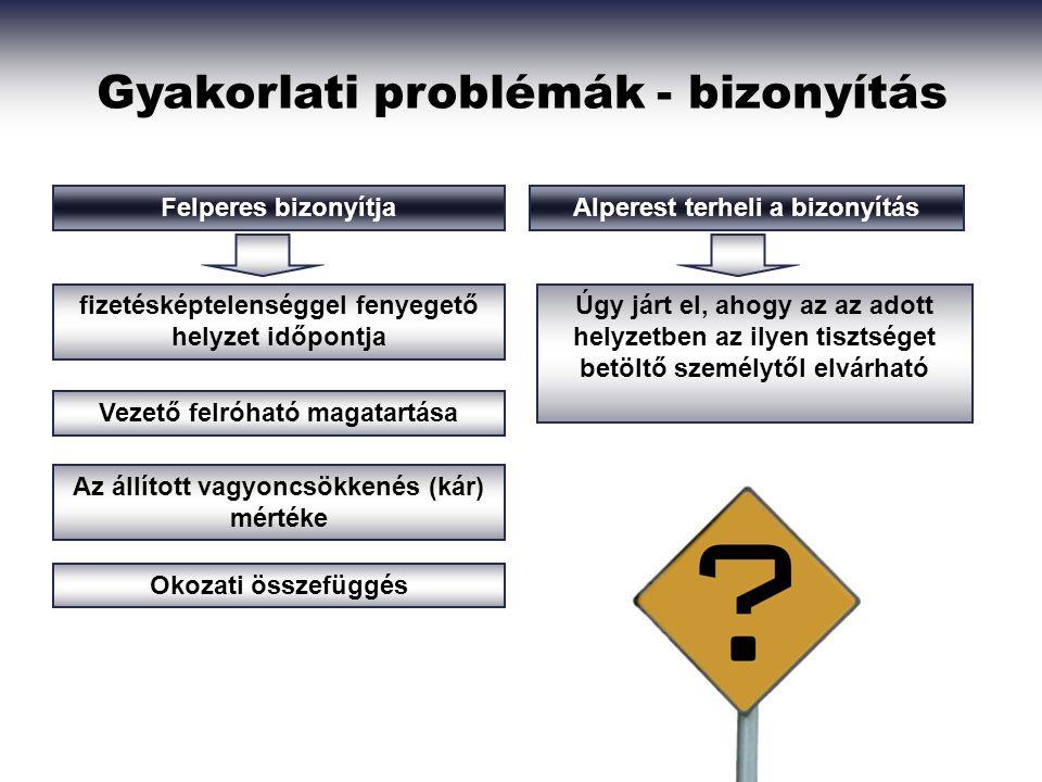 Gyakorlati problémák - bizonyítás