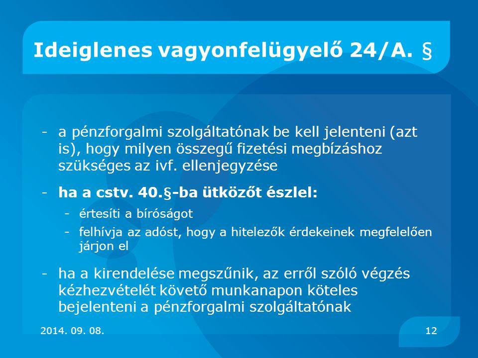 Ideiglenes vagyonfelügyelő 24/A. §