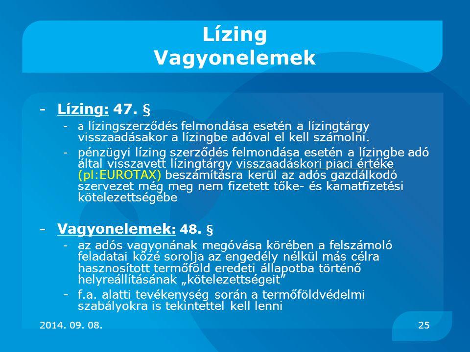 Lízing Vagyonelemek - Lízing: 47. § - Vagyonelemek: 48. §