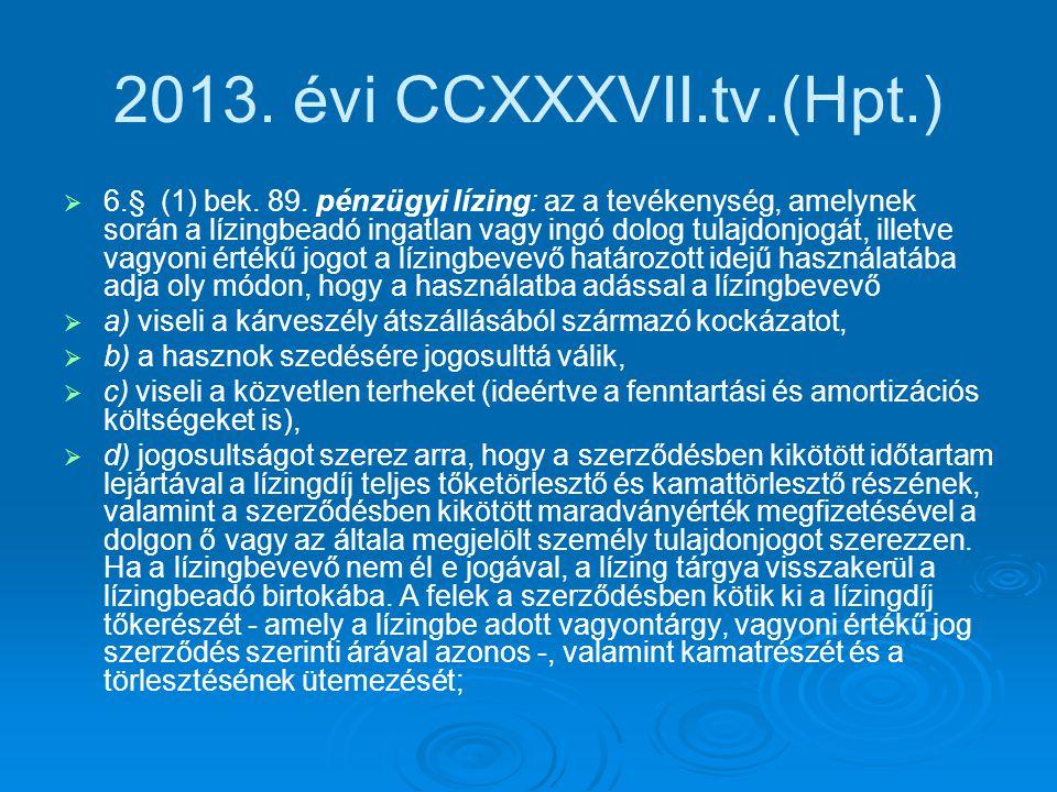 2013. évi CCXXXVII.tv.(Hpt.)