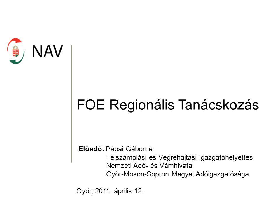 FOE Regionális Tanácskozás